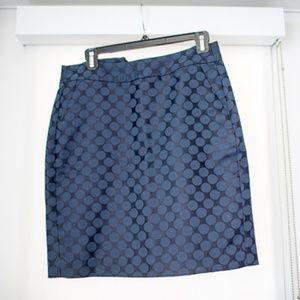 Navy blue polkadot skirt